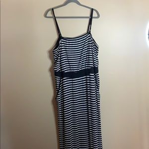 Pennington's size 2X black & white maxi dress